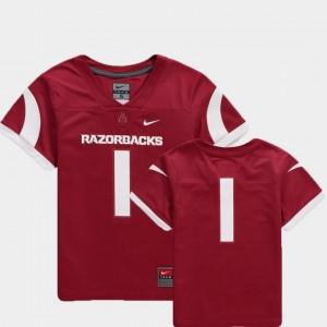College Football Team Replica Nike For Kids Arkansas Razorbacks Jersey Cardinal #1