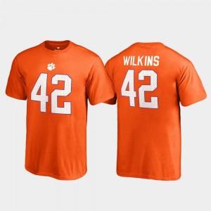 Youth Fanatics Branded Name & Number #42 Orange Christian Wilkins Clemson University T-Shirt College Legends