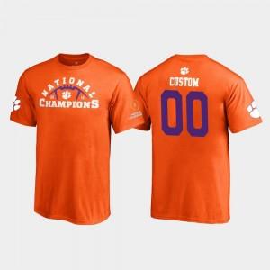 2018 National Champions Orange For Kids Clemson National Championship Custom T-Shirt #00 Pylon Fanatics Branded