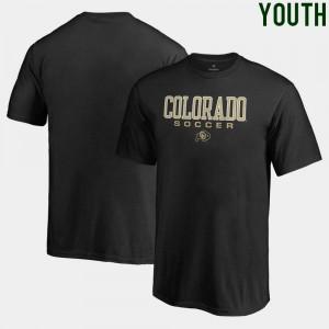 Youth(Kids) Soccer Fanatics Colorado T-Shirt Black True Sport