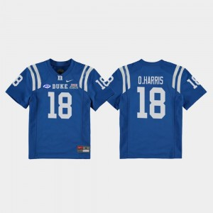 2018 Independence Bowl Quentin Harris Duke Blue Devils Jersey #18 Royal Kids College Football Game