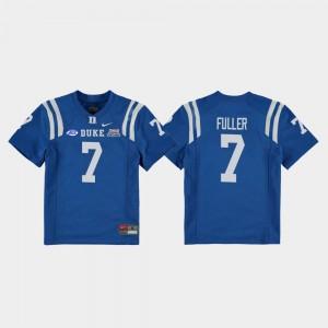 2018 Independence Bowl College Football Game Youth Keyston Fuller Duke Blue Devils Jersey Royal #7