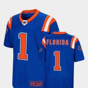 Royal #1 Youth(Kids) Foos-Ball Football Colosseum Authentic Florida Jersey
