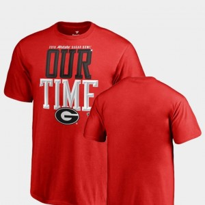 2019 Sugar Bowl Bound University of Georgia T-Shirt Counter Fanatics Branded Red Kids