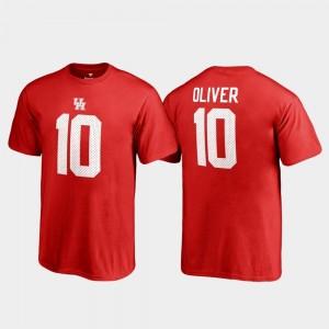 Red Fanatics Branded Name & Number For Kids #10 Ed Oliver Cougars T-Shirt College Legends