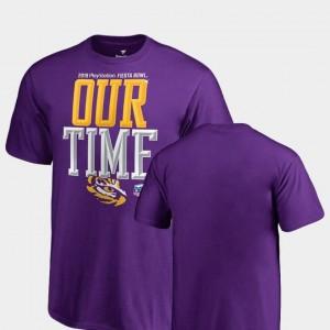 LSU T-Shirt For Kids 2019 Fiesta Bowl Bound Counter Fanatics Branded Purple