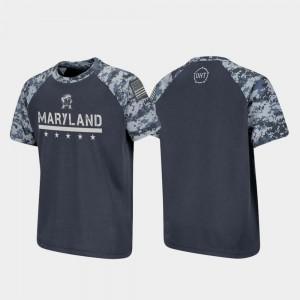 Raglan Digital Camo OHT Military Appreciation Maryland Terrapins T-Shirt For Kids Charcoal