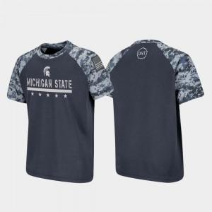 For Kids Raglan Digital Camo OHT Military Appreciation Charcoal Spartans T-Shirt