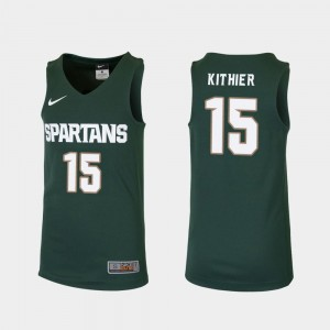 Green Replica For Kids Thomas Kithier Michigan State Spartans Jersey College Basketball #15