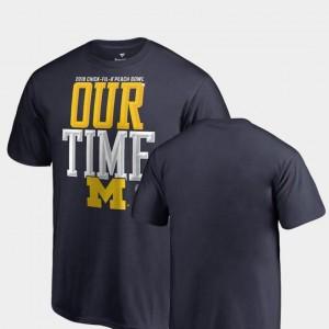Navy Michigan T-Shirt For Kids 2018 Peach Bowl Bound Counter Fanatics Branded