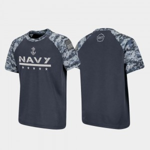 Navy Midshipmen T-Shirt For Kids Raglan Digital Camo OHT Military Appreciation Charcoal