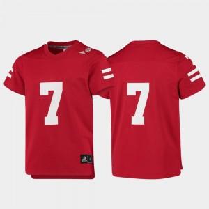 #7 Nebraska Cornhuskers Jersey College Football Replica Kids Scarlet