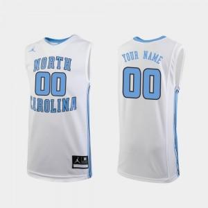 Replica #00 North Carolina Tar Heels Custom Jerseys College Basketball White Youth