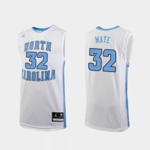 Kids Luke Maye University of North Carolina Jersey White College Basketball #32 Replica