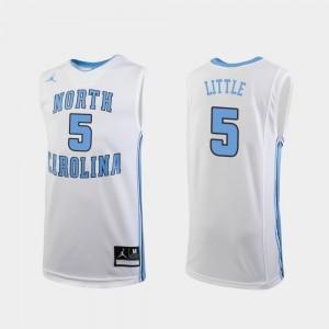 College Basketball Youth(Kids) Nassir Little North Carolina Jersey White #5 Replica