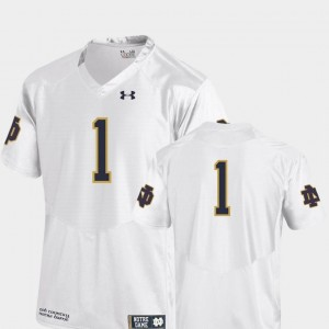 White College Football #1 UND Jersey Team Replica Under Armour For Kids