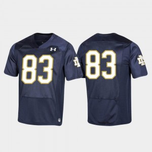 #83 Replica For Kids Navy University of Notre Dame Jersey College Football 2019