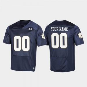 Notre Dame Custom Jerseys #00 Youth Navy Replica Football Under Armour
