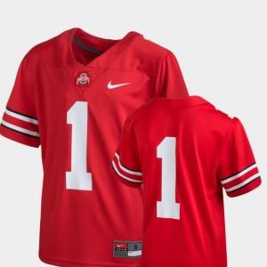 Team Replica Nike College Football Kids OSU Jersey #1 Scarlet