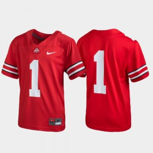 Ohio State Jersey #1 Scarlet Untouchable Football For Kids