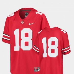 Replica Nike Youth(Kids) College Football #18 Scarlet OSU Buckeyes Jersey