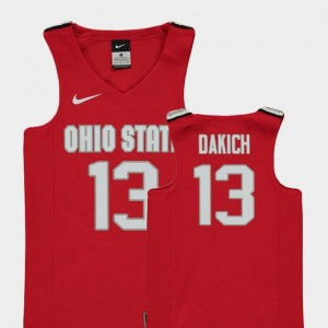Replica Red Andrew Dakich Ohio State Jersey College Basketball Youth(Kids) #13
