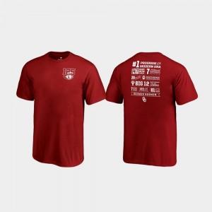 Fanatics Branded Champ Stats OU Sooners T-Shirt Youth(Kids) Crimson 125th Football Season
