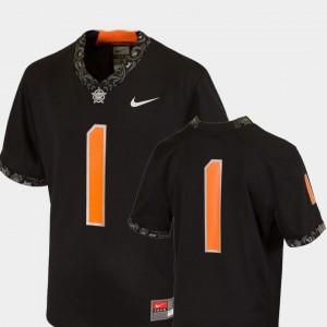 College Football Black Youth(Kids) #1 Team Replica Nike Oklahoma State University Jersey