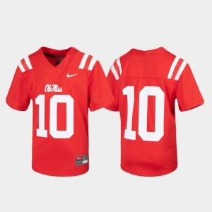 Untouchable Rebels Jersey #10 Football Red Youth(Kids)