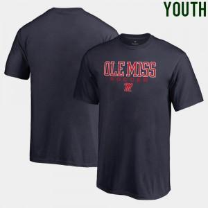 Ole Miss Rebels T-Shirt Soccer Fanatics For Kids True Sport Navy