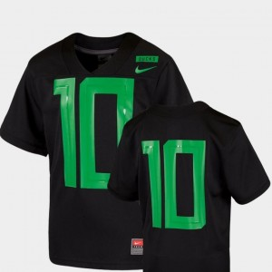 Youth(Kids) Football Game Nike 2018 Mighty Oregon Oregon Jersey Black #10