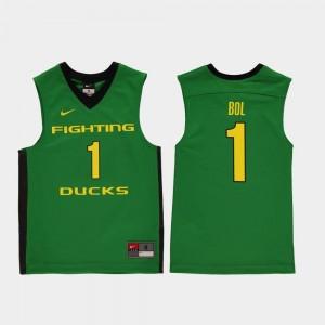 For Kids Green Bol Bol Ducks Jersey College Basketball Replica #1
