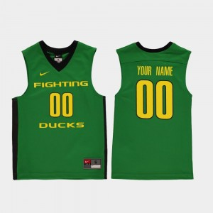 Replica Green College Basketball #00 Youth(Kids) Ducks Customized Jerseys