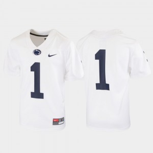 White #1 Untouchable Penn State Jersey Football Youth(Kids)
