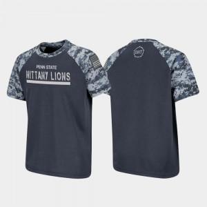 Raglan Digital Camo OHT Military Appreciation Penn State T-Shirt Charcoal Youth(Kids)