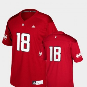 College Football Kids Replica Adidas Rutgers Scarlet Knights Jersey #18 Scarlet