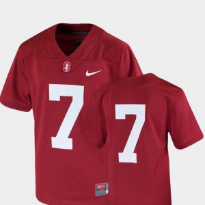 For Kids #7 Stanford Jersey College Football Team Replica Nike Cardinal