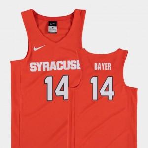 #14 College Basketball Orange Youth Braedon Bayer Syracuse University Jersey Replica