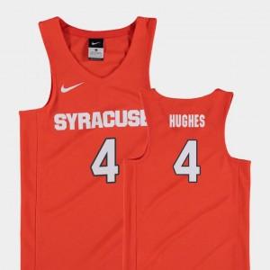 Orange #4 Elijah Hughes Syracuse Jersey Youth(Kids) College Basketball Replica
