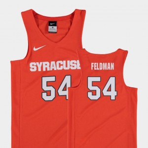 College Basketball For Kids #54 Replica Orange Ky Feldman Cuse Jersey