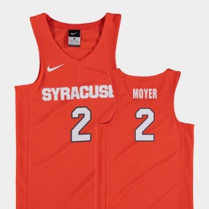 College Basketball Replica Matthew Moyer Orange Jersey Orange #2 Youth(Kids)