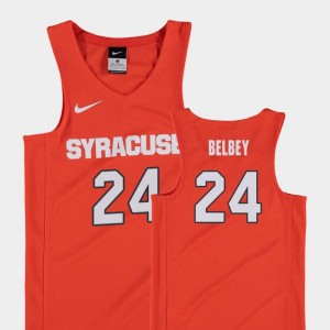 #24 Youth(Kids) College Basketball Shaun Belbey Orange Jersey Orange Replica