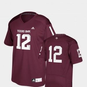 #12 Kids Maroon Replica Adidas College Football TAMU Jersey