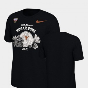 Black Youth(Kids) Texas Longhorns T-Shirt Illustrated Helmet Nike 2019 Sugar Bowl Bound