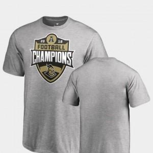 Fanatics Branded Big & Tall 2018 AAC Football Champions Kids Heather Gray UCF Knights T-Shirt