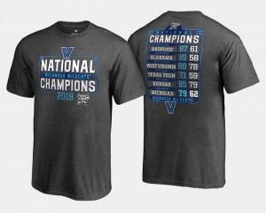 Villanova T-Shirt Basketball National Champions For Kids Heather Gray 2018 Dropstep Schedule