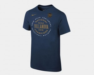 Youth Navy 2018 Celebration Villanova T-Shirt Basketball National Champions