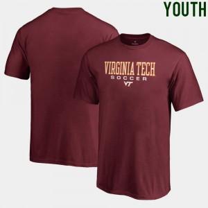 Soccer Fanatics Kids Maroon Hokies T-Shirt True Sport