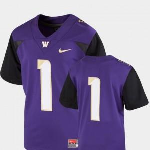 College Football Team Replica Nike Washington Huskies Jersey #1 Youth Purple