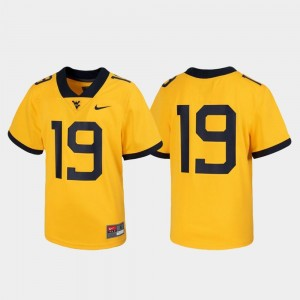 West Virginia University Jersey Untouchable Gold Kids Football #19